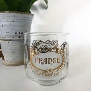 Vintage | TWA Airlines France Glass